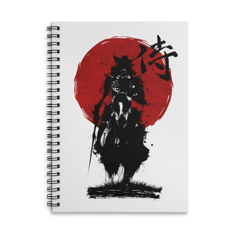 The Samurai Accessories Lined Spiral Notebook by clingcling's Artist Shop