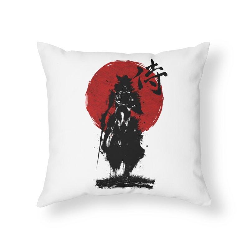 The Samurai Home Throw Pillow by clingcling's Artist Shop