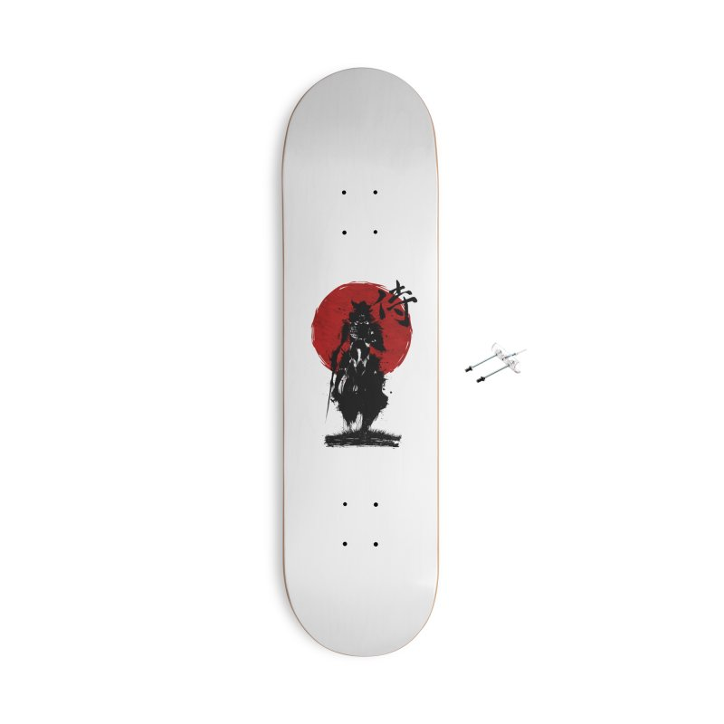 The Samurai Accessories With Hanging Hardware Skateboard by clingcling's Artist Shop