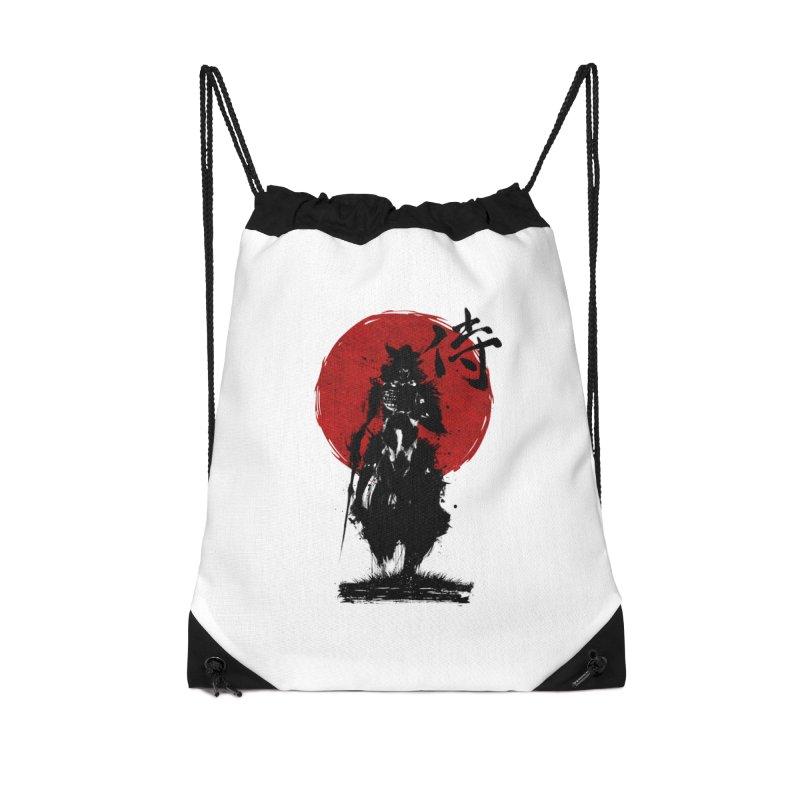The Samurai Accessories Drawstring Bag Bag by clingcling's Artist Shop