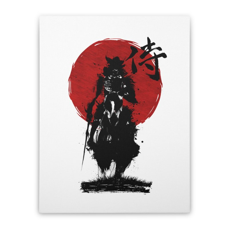 The Samurai Home Stretched Canvas by clingcling's Artist Shop