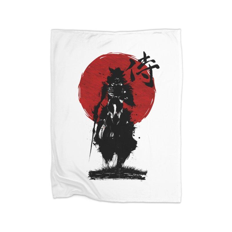 The Samurai Home Fleece Blanket Blanket by clingcling's Artist Shop