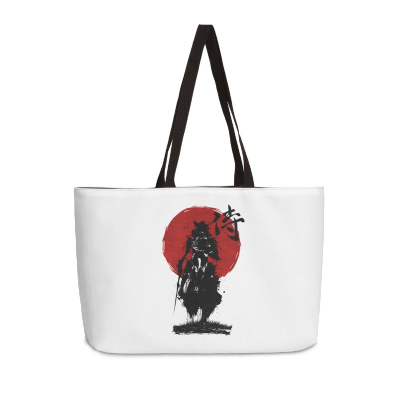 The Samurai Accessories Weekender Bag Bag by clingcling's Artist Shop