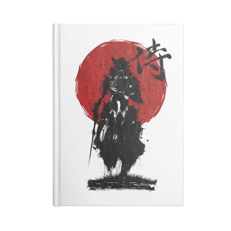 The Samurai Accessories Blank Journal Notebook by clingcling's Artist Shop