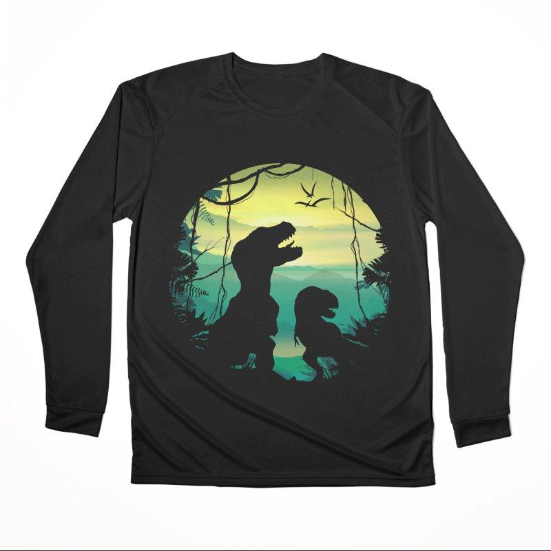 T-rex Men's Performance Longsleeve T-Shirt by clingcling's Artist Shop