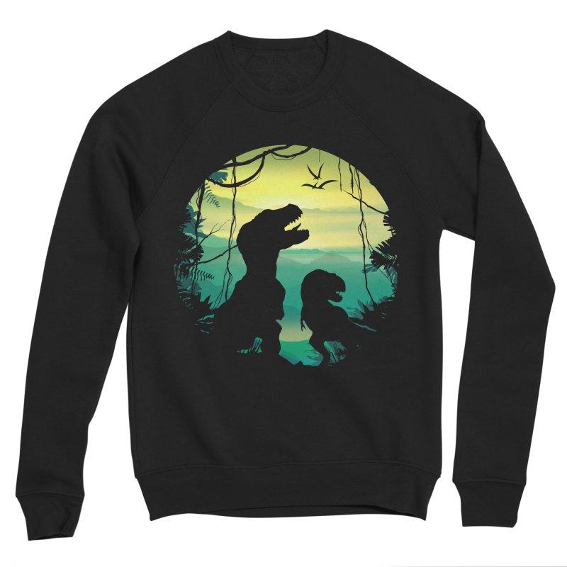 T-rex Men's Sponge Fleece Sweatshirt by clingcling's Artist Shop