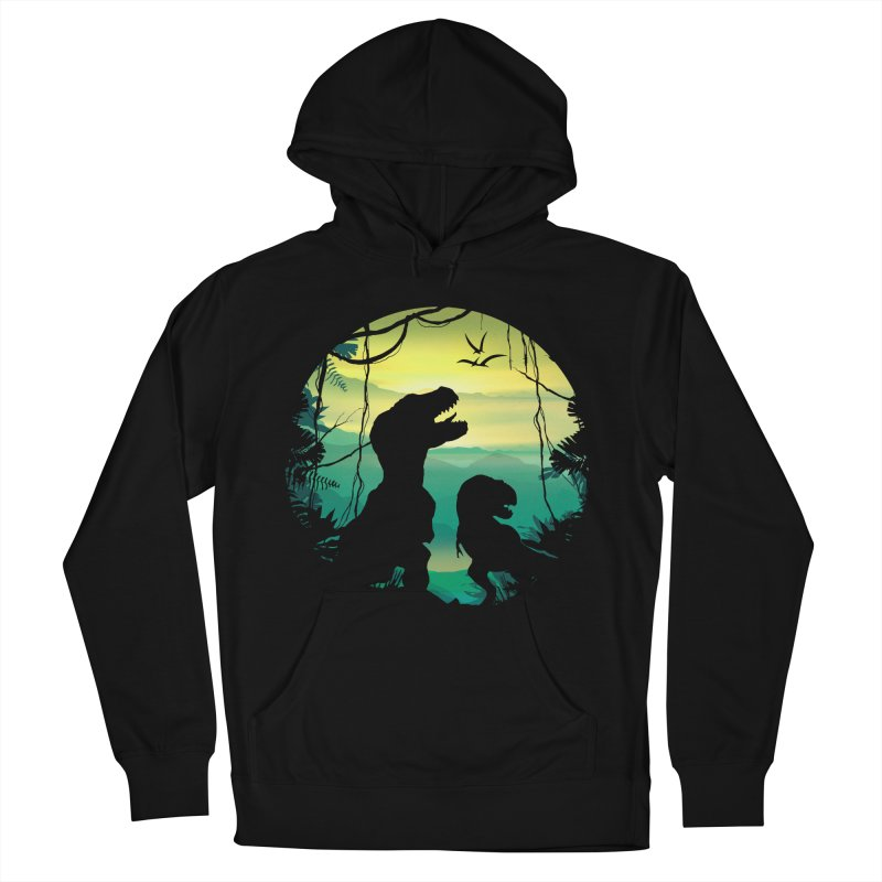 T-rex Men's French Terry Pullover Hoody by clingcling's Artist Shop