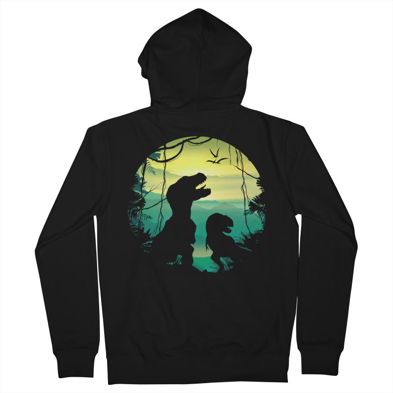T-rex Men's French Terry Zip-Up Hoody by clingcling's Artist Shop