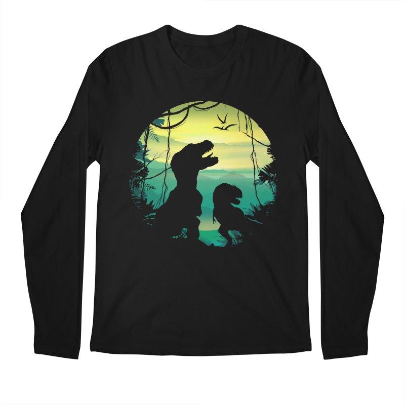 T-rex Men's Regular Longsleeve T-Shirt by clingcling's Artist Shop