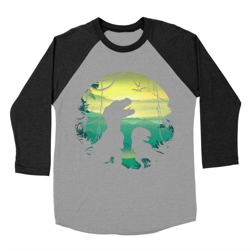T-rex Men's Baseball Triblend Longsleeve T-Shirt by clingcling's Artist Shop
