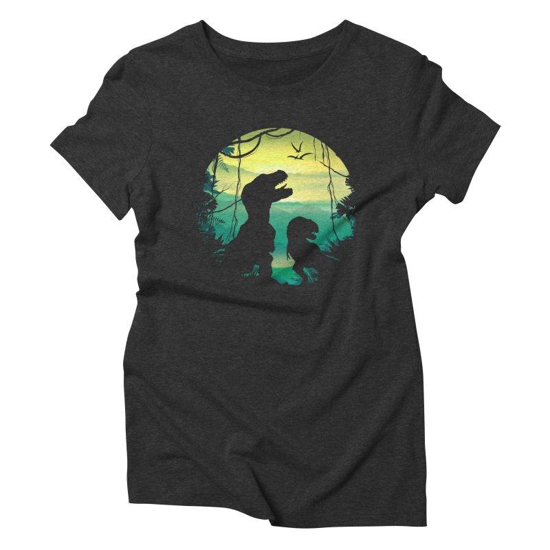 T-rex Women's Triblend T-Shirt by clingcling's Artist Shop