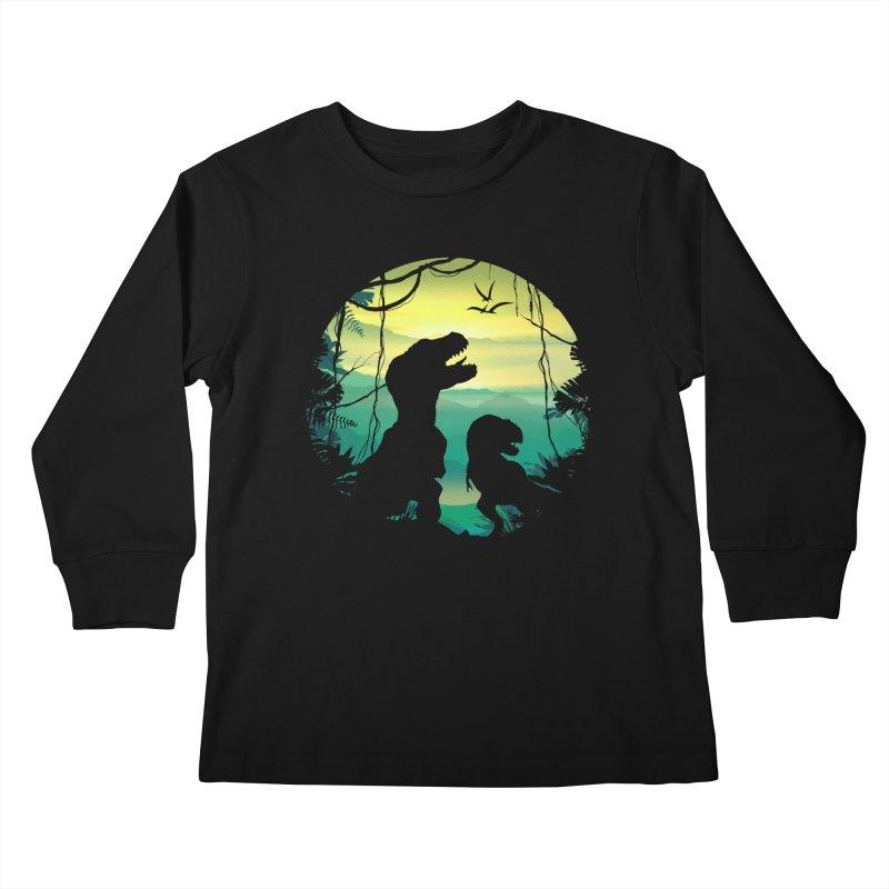 T-rex Kids Longsleeve T-Shirt by clingcling's Artist Shop
