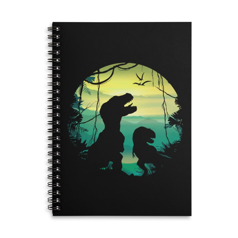 T-rex Accessories Lined Spiral Notebook by clingcling's Artist Shop