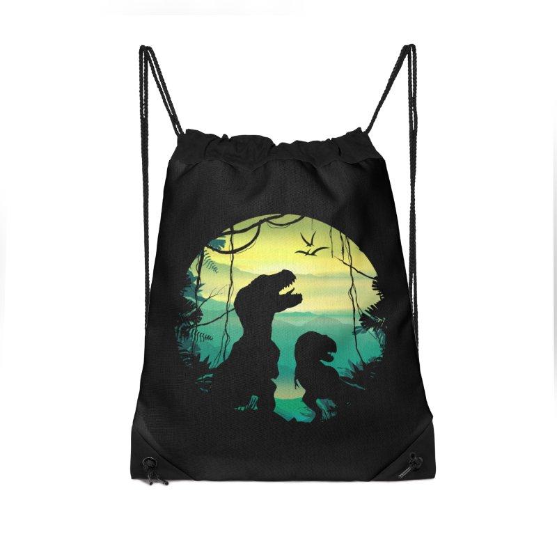 T-rex Accessories Drawstring Bag Bag by clingcling's Artist Shop