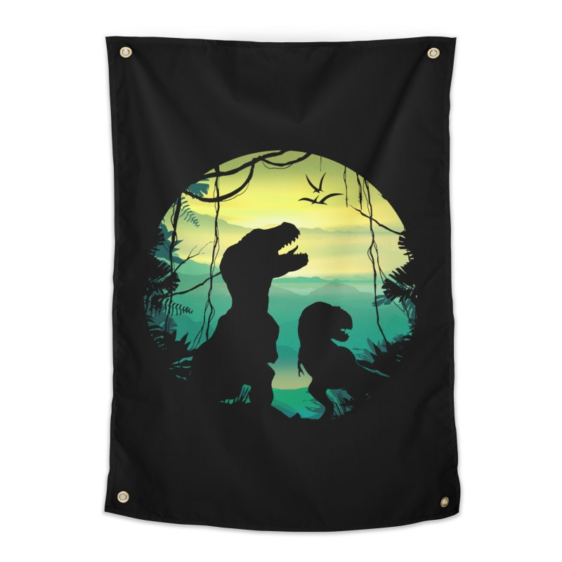 T-rex Home Tapestry by clingcling's Artist Shop