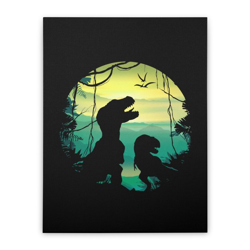 T-rex Home Stretched Canvas by clingcling's Artist Shop
