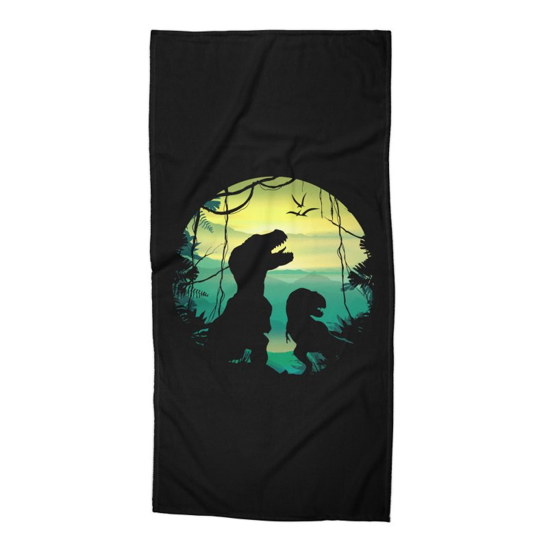 T-rex Accessories Beach Towel by clingcling's Artist Shop