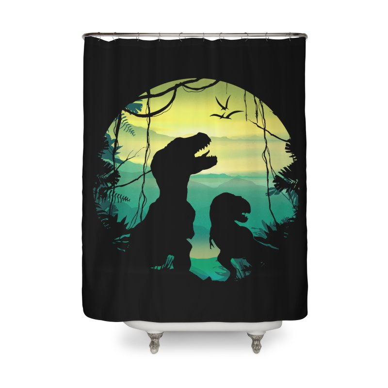 T-rex Home Shower Curtain by clingcling's Artist Shop