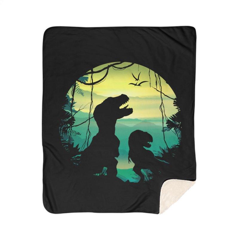 T-rex Home Sherpa Blanket Blanket by clingcling's Artist Shop