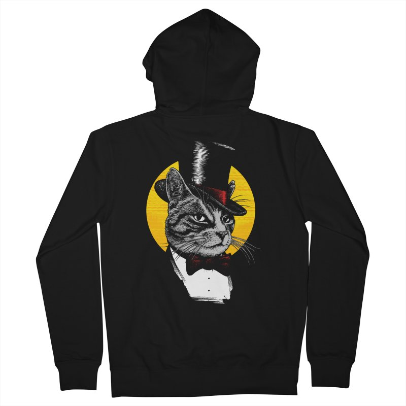 Mr. Cat Men's French Terry Zip-Up Hoody by clingcling's Artist Shop