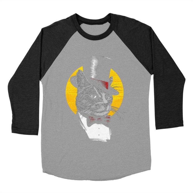 Mr. Cat Men's Baseball Triblend Longsleeve T-Shirt by clingcling's Artist Shop