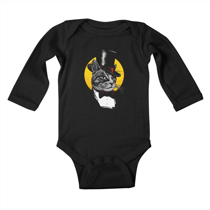Mr. Cat Kids Baby Longsleeve Bodysuit by clingcling's Artist Shop