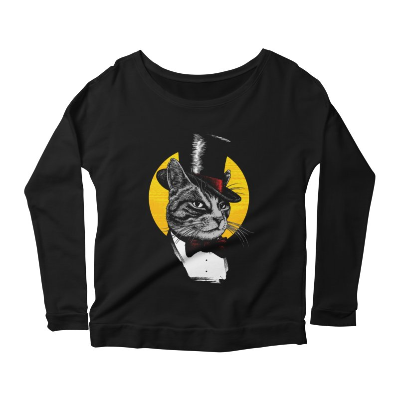 Mr. Cat Women's Scoop Neck Longsleeve T-Shirt by clingcling's Artist Shop