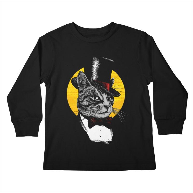 Mr. Cat Kids Longsleeve T-Shirt by clingcling's Artist Shop