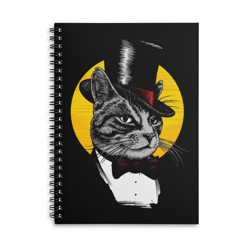 Mr. Cat Accessories Lined Spiral Notebook by clingcling's Artist Shop