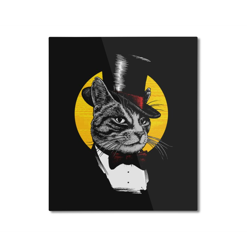 Mr. Cat Home Mounted Aluminum Print by clingcling's Artist Shop
