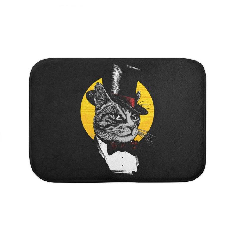 Mr. Cat Home Bath Mat by clingcling's Artist Shop