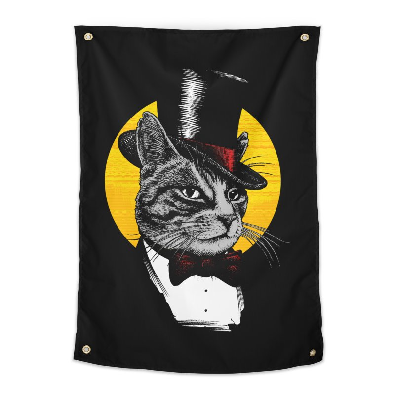 Mr. Cat Home Tapestry by clingcling's Artist Shop