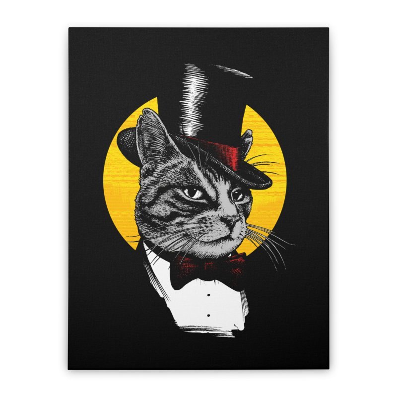 Mr. Cat Home Stretched Canvas by clingcling's Artist Shop