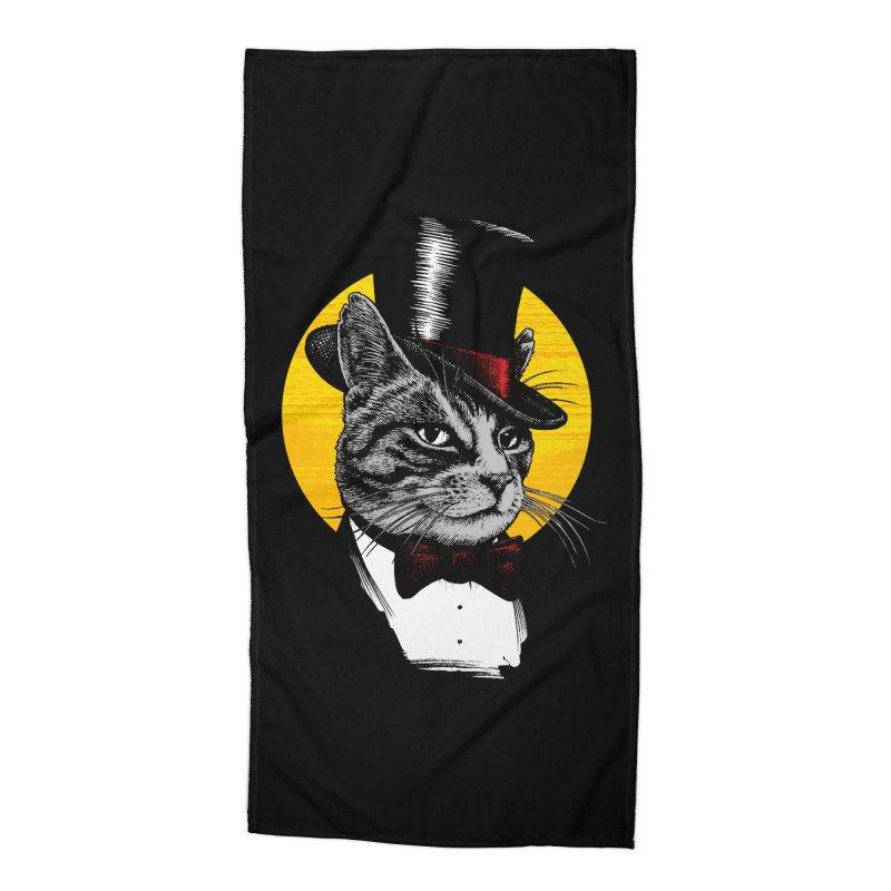 Mr. Cat Accessories Beach Towel by clingcling's Artist Shop