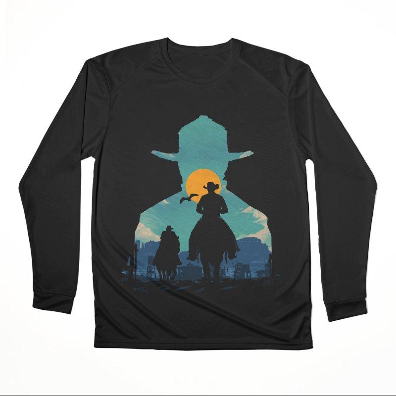 Western Sheriff Men's Performance Longsleeve T-Shirt by clingcling's Artist Shop