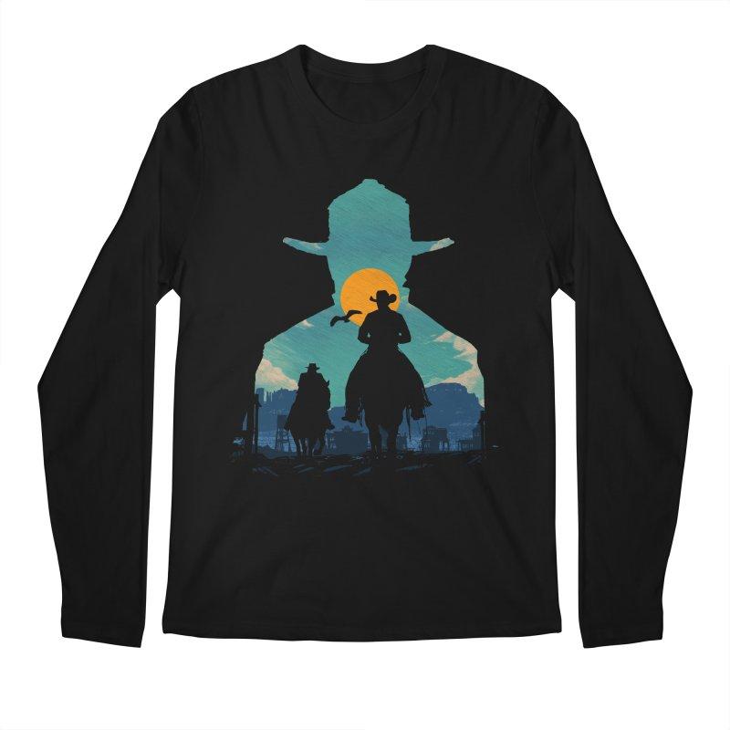 Western Sheriff Men's Regular Longsleeve T-Shirt by clingcling's Artist Shop