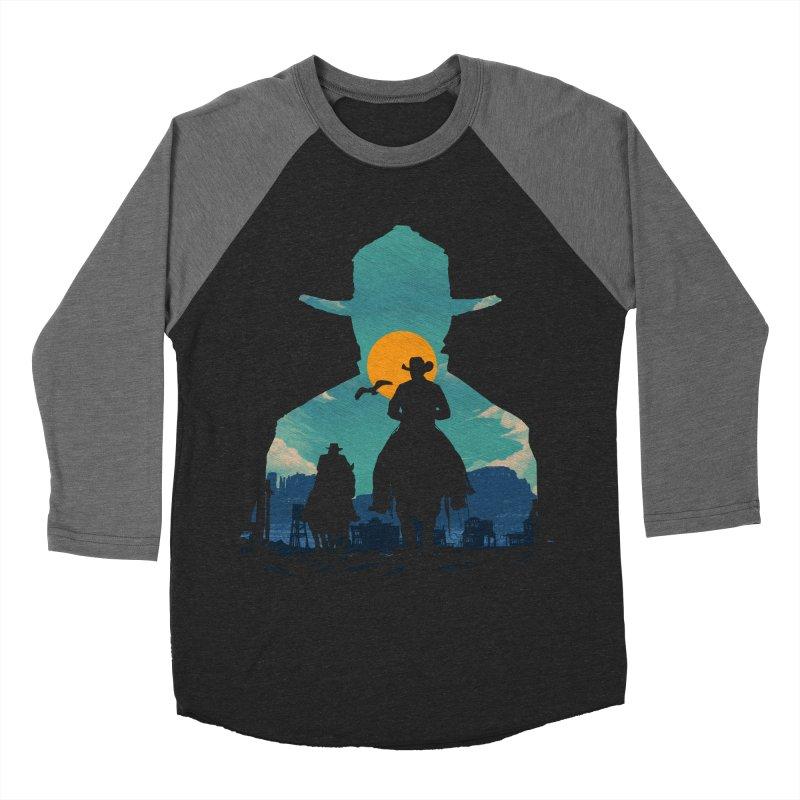 Western Sheriff Men's Baseball Triblend Longsleeve T-Shirt by clingcling's Artist Shop