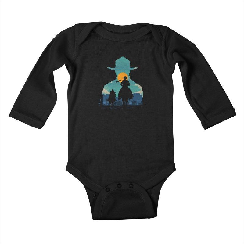 Western Sheriff Kids Baby Longsleeve Bodysuit by clingcling's Artist Shop