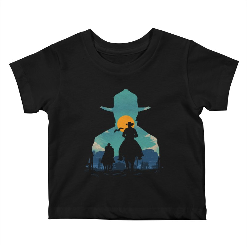 Western Sheriff Kids Baby T-Shirt by clingcling's Artist Shop