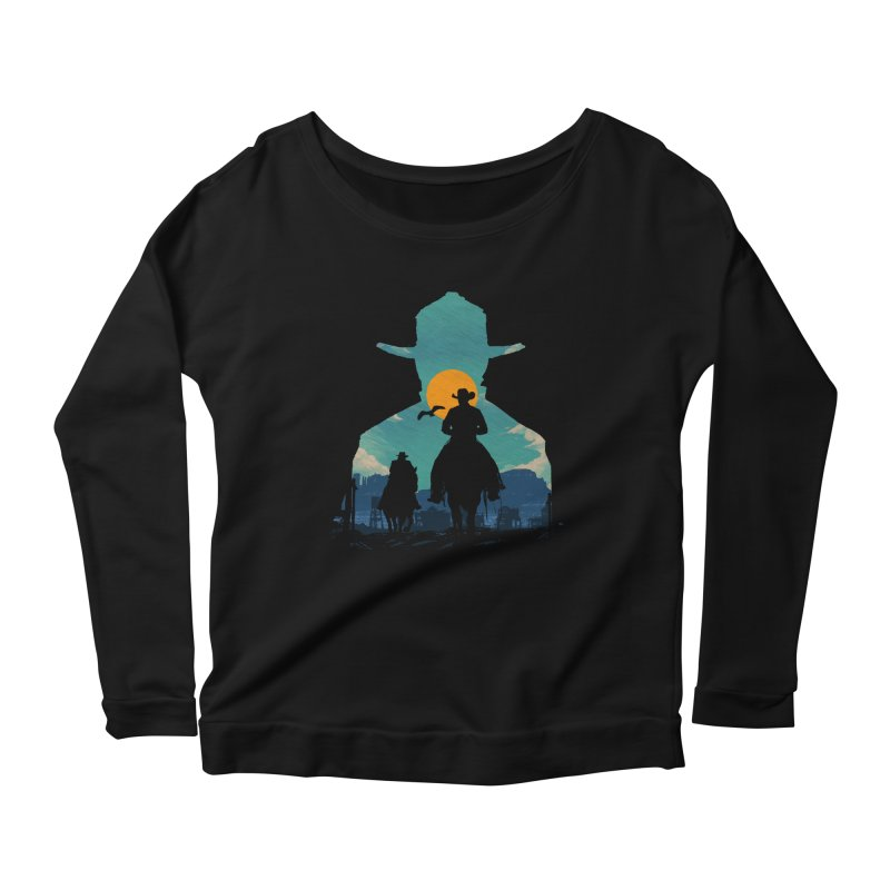 Western Sheriff Women's Scoop Neck Longsleeve T-Shirt by clingcling's Artist Shop