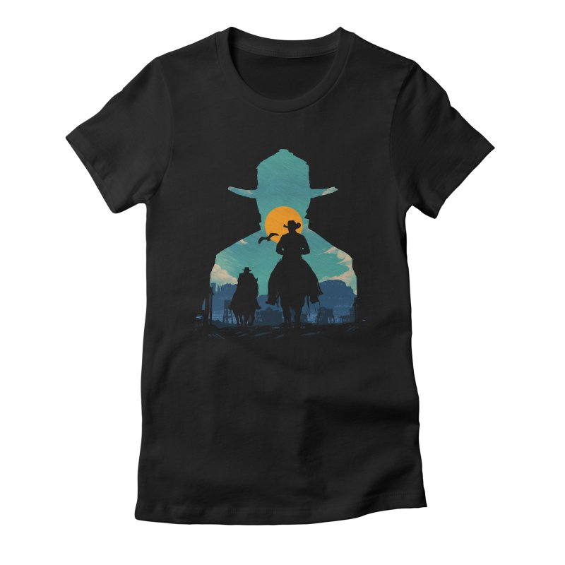 Western Sheriff Women's Fitted T-Shirt by clingcling's Artist Shop