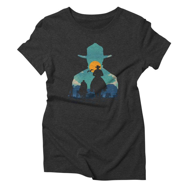 Western Sheriff Women's Triblend T-Shirt by clingcling's Artist Shop