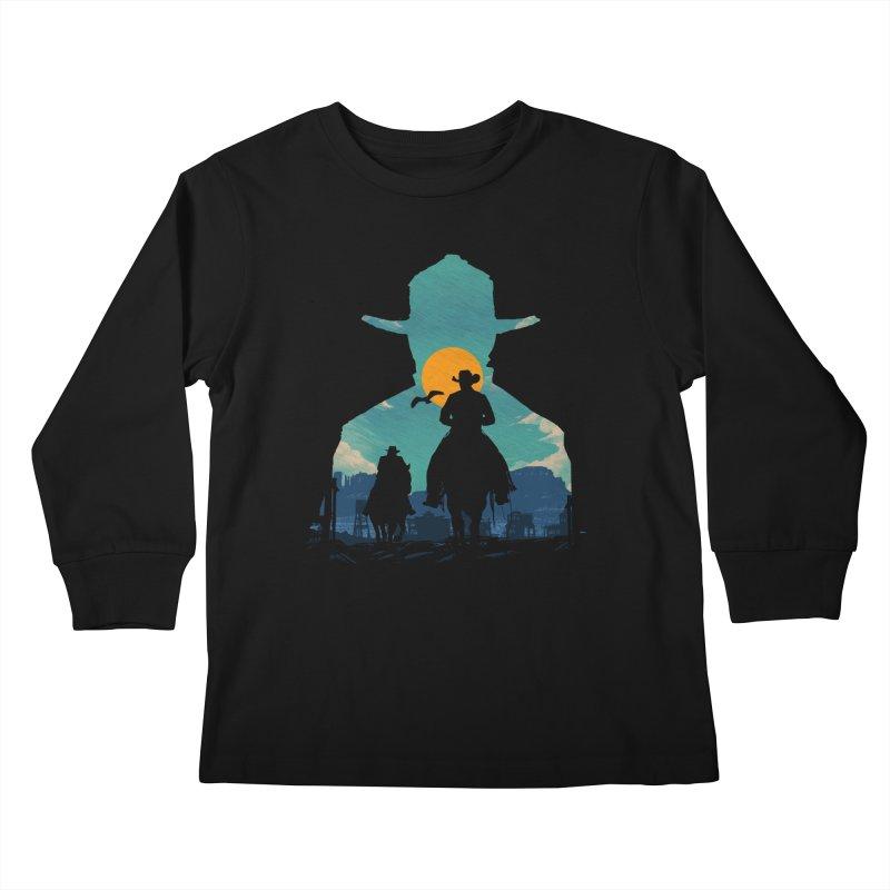Western Sheriff Kids Longsleeve T-Shirt by clingcling's Artist Shop