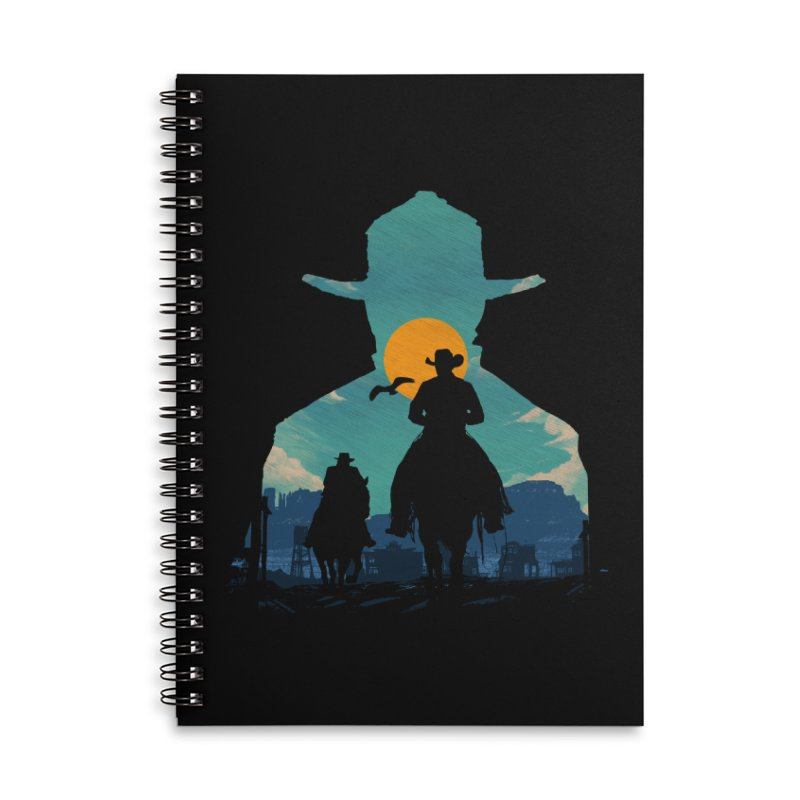 Western Sheriff Accessories Lined Spiral Notebook by clingcling's Artist Shop