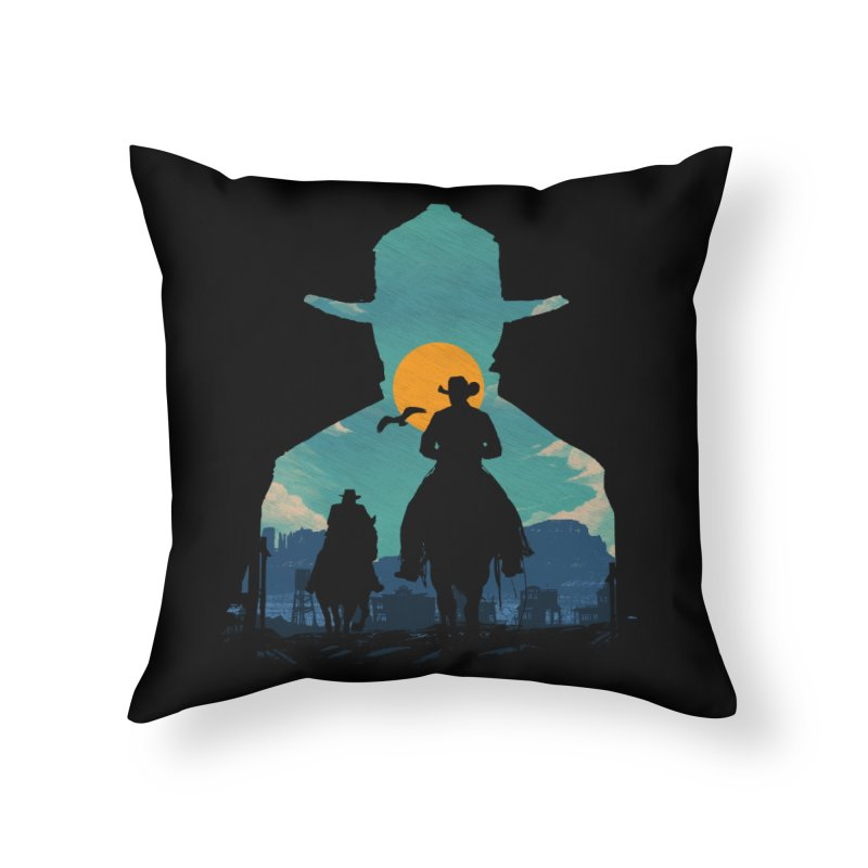 Western Sheriff Home Throw Pillow by clingcling's Artist Shop