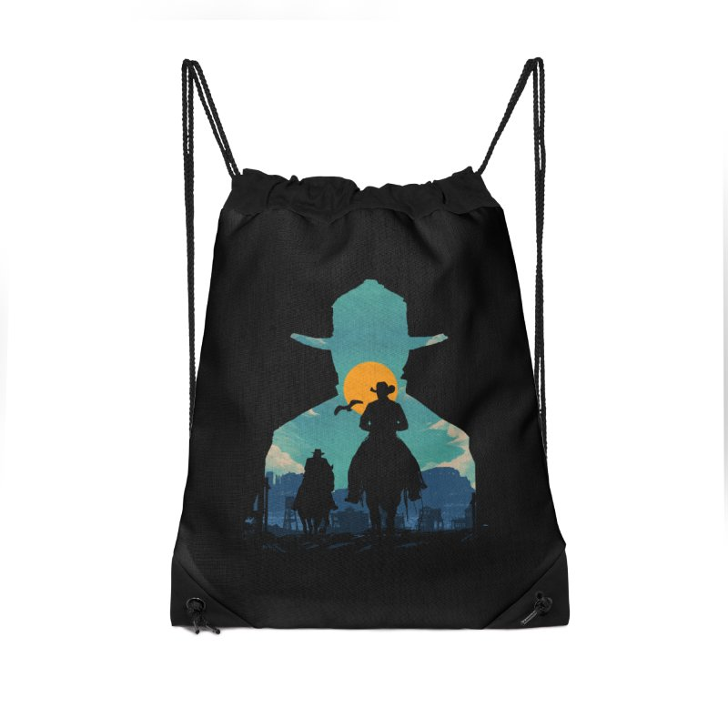 Western Sheriff Accessories Drawstring Bag Bag by clingcling's Artist Shop