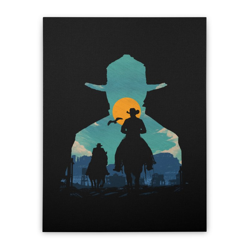 Western Sheriff Home Stretched Canvas by clingcling's Artist Shop