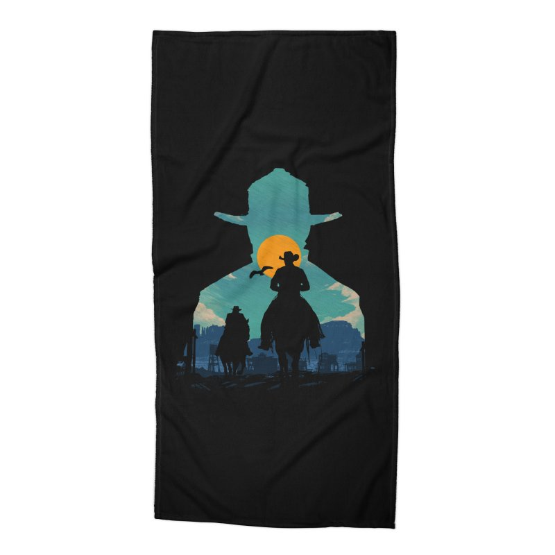 Western Sheriff Accessories Beach Towel by clingcling's Artist Shop