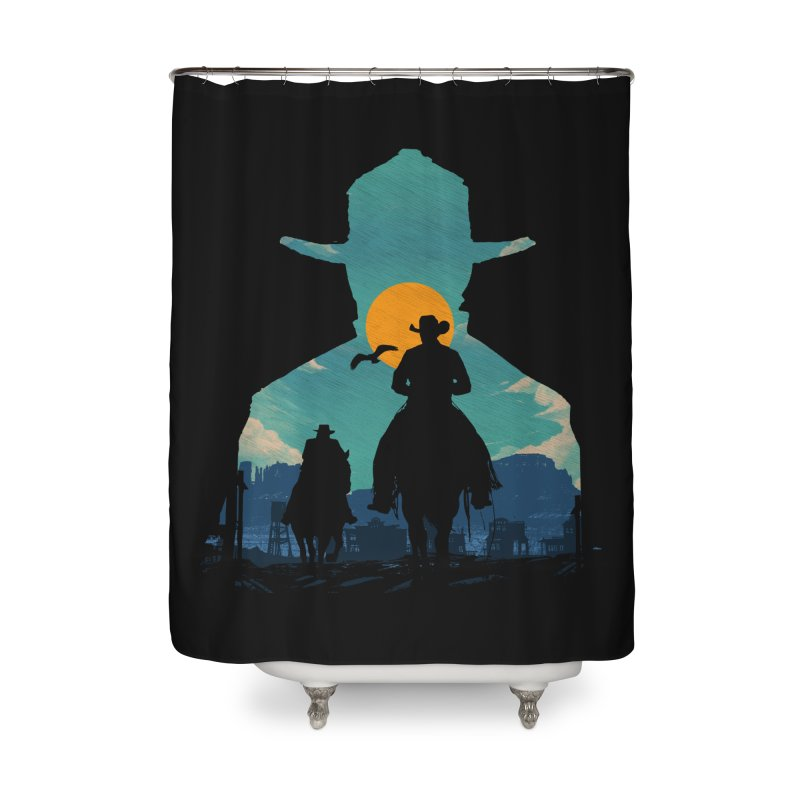 Western Sheriff Home Shower Curtain by clingcling's Artist Shop