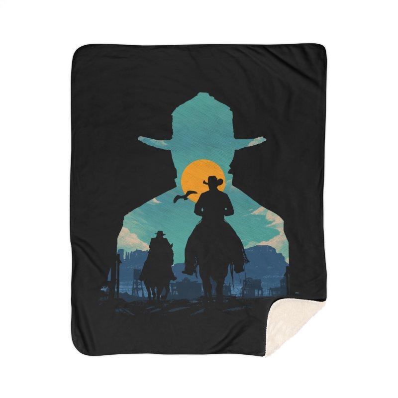 Western Sheriff Home Sherpa Blanket Blanket by clingcling's Artist Shop